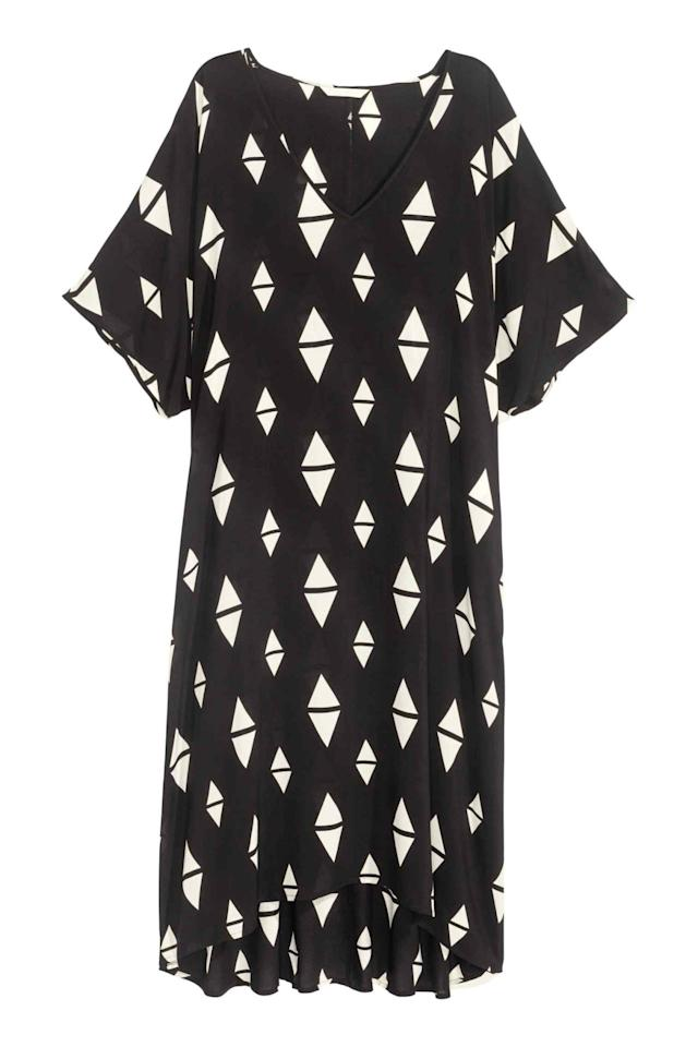 "<p>Boasting a loose (and forgiving) cut and a graphic print perfect for festivals and the beach, this dress is a steal at under £15 - and a high-street buy you should definitely snap up this month. </p><p><a href=""http://www2.hm.com/en_gb/productpage.0388962006.html#"">Buy it here. </a></p>"