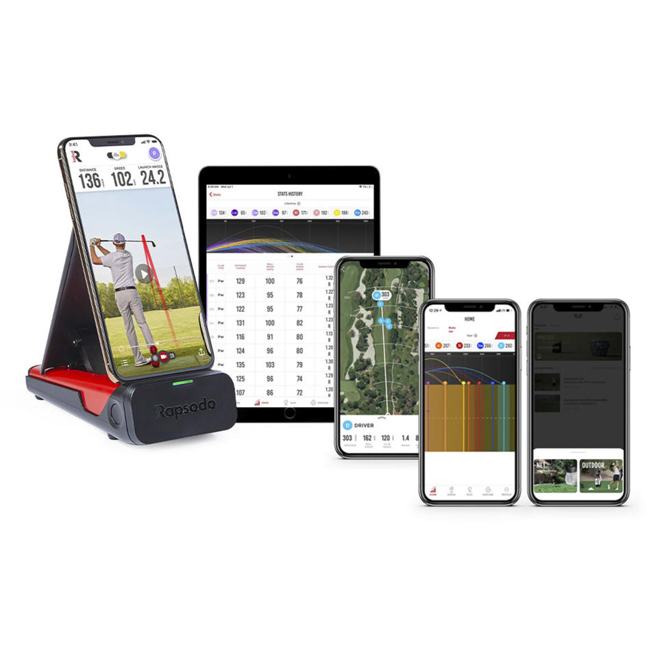 This image provided by Rapsodo shows the Mobile Launch Monitor app. For golfers, Rapsodo's Mobile Launch Monitor app helps perfect the swing, with technique analysis and instant video to store for reference and share with fellow players. (Rapsodo via AP)