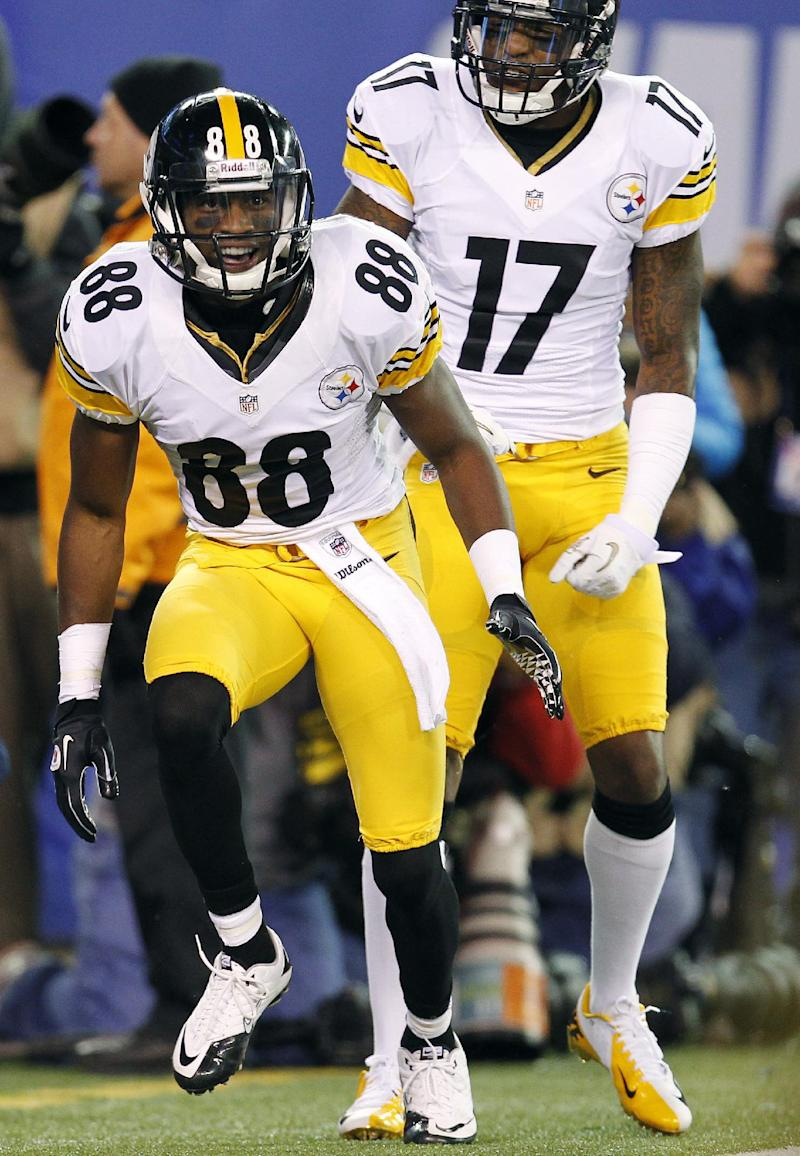 435c91affe3 Steelers, WR Sanders fined for faking injury