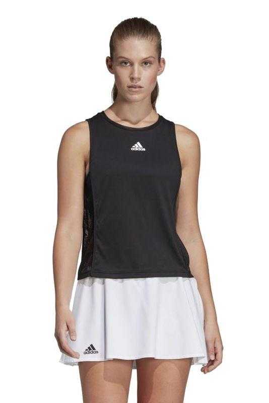 """<p><strong>Adidas</strong></p><p>adidas.com</p><p><a href=""""https://go.redirectingat.com?id=74968X1596630&url=https%3A%2F%2Fwww.adidas.com%2Fus%2Fescouade-tank-top%2FDP0262.html&sref=http%3A%2F%2Fwww.marieclaire.com%2Ffashion%2Fg28981723%2Fadidas-anniversary-sale-september-2019%2F"""" target=""""_blank"""">SHOP IT</a></p><p><del>$55</del><strong><br>$28</strong></p><p>This breezy, mesh tank top wiLL be the hero of your next hot yoga class. </p>"""