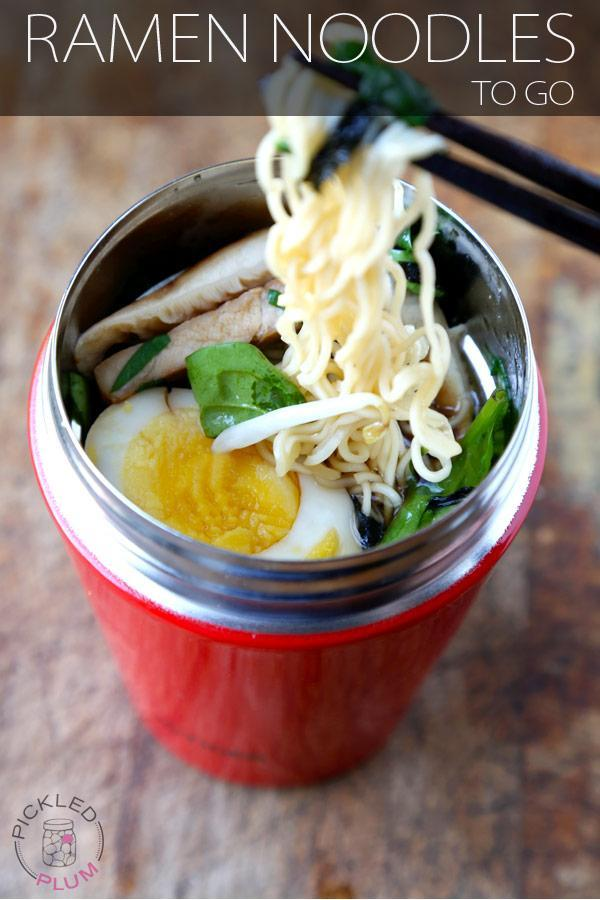"""<p>Nothing is faster than instant, and it's even better when you can take it with you! Take your ramen game past college dorm room level and give this a try. So easy, you can't even really call this cooking. <i>[Image: Pickled Plum]</i></p><p>Get the recipe from: <b><a href=""""http://www.pickledplum.com/ramen-noodle-instant-recipe/"""" rel=""""nofollow noopener"""" target=""""_blank"""" data-ylk=""""slk:Pickled Plum"""" class=""""link rapid-noclick-resp"""">Pickled Plum</a></b></p>"""