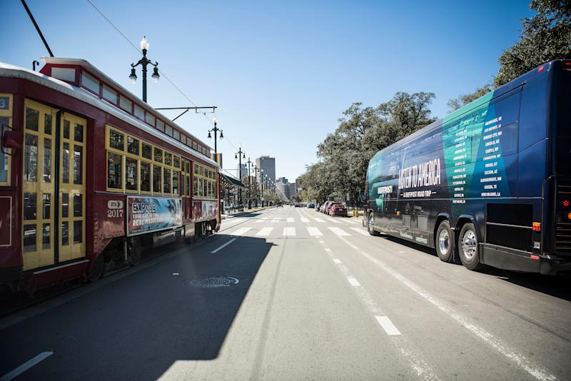 "HuffPost visits New Orleans on Oct. 29 as part of ""Listen to America: A HuffPost Road Trip."" The bus pulled in at more than 20 cities on its tour across the country."