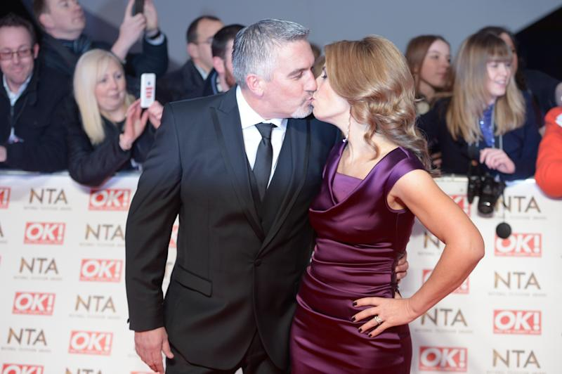 Paul Hollywood and his wife Alexandra arriving for the 2015 National Television Awards at the O2 Arena, London.