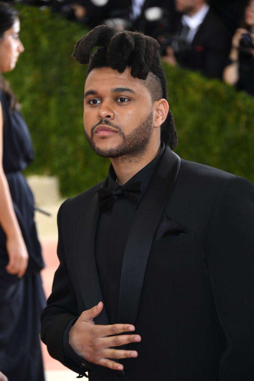 <p>A slightly modified style with more defined locs was The Weeknd's look of choice while accompanying his model girlfriend, Bella Hadid, to the 2016 Met Gala. </p>