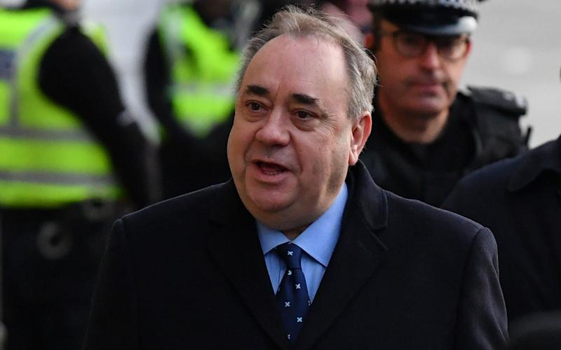 Former Scottish first minister Alex Salmond arrives at the High Court for a preliminary hearing on sexual assault charges - Getty Images Europe