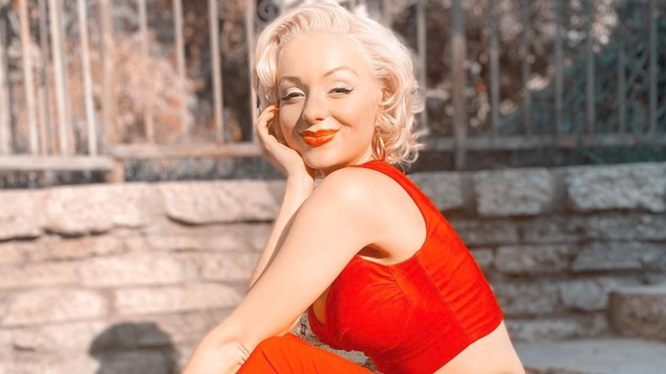 Chiswell had to build up her confidence to wear vintage clothes and her favorite red lipstick. (Photo: Jasmine Chiswell)