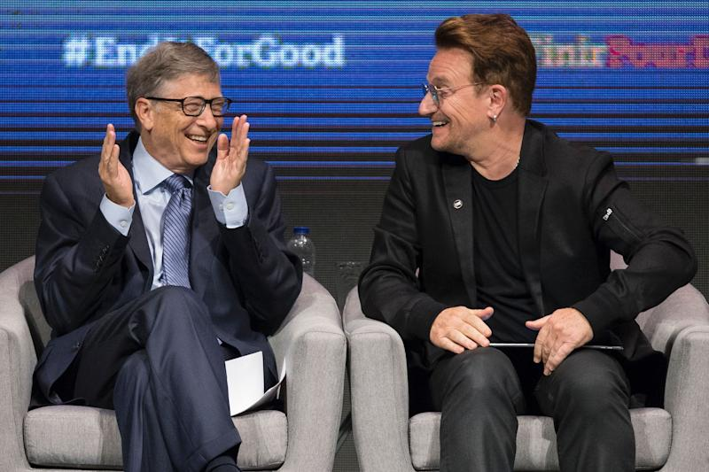 Bill Gates says the first thing he'll do after a coronavirus vaccine is hug Bono