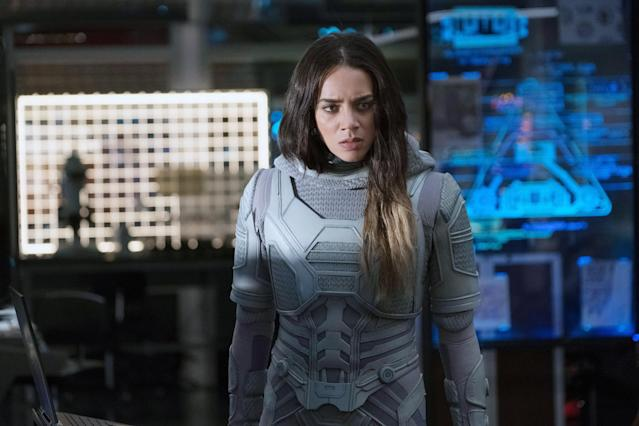 The phase-shifting Ghost (Hannah John-Kamen) may hold the key to the fourth <em>Avengers</em> film (Photo: Ben Rothstein/Marvel/Walt Disney Studios Motion Pictures/Courtesy of Everett Collection)