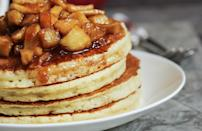 """<p>While Granny Smith apples taste great out of hand, their firmness and acidity means that they're best when used in recipes ranging from pies, tarts and pancakes to soups, stuffing <a href=""""https://www.thedailymeal.com/best-recipes/easy-waldorf-salad-recipe?referrer=yahoo&category=beauty_food&include_utm=1&utm_medium=referral&utm_source=yahoo&utm_campaign=feed"""" rel=""""nofollow noopener"""" target=""""_blank"""" data-ylk=""""slk:and salads"""" class=""""link rapid-noclick-resp"""">and salads</a>. They also pair well with cheese.</p>"""