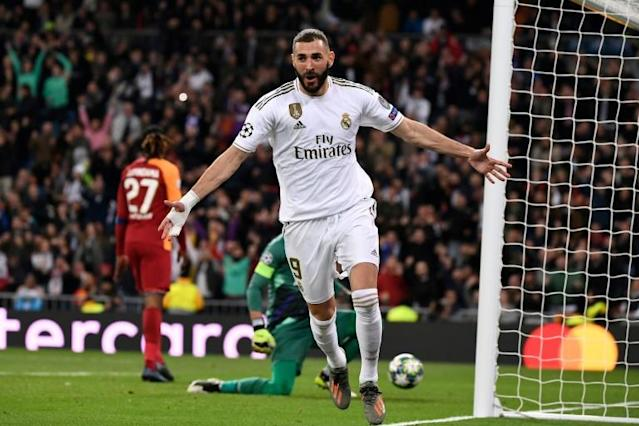 Benzema scored twice against Galatasaray on Wednesday (AFP Photo/PIERRE-PHILIPPE MARCOU)
