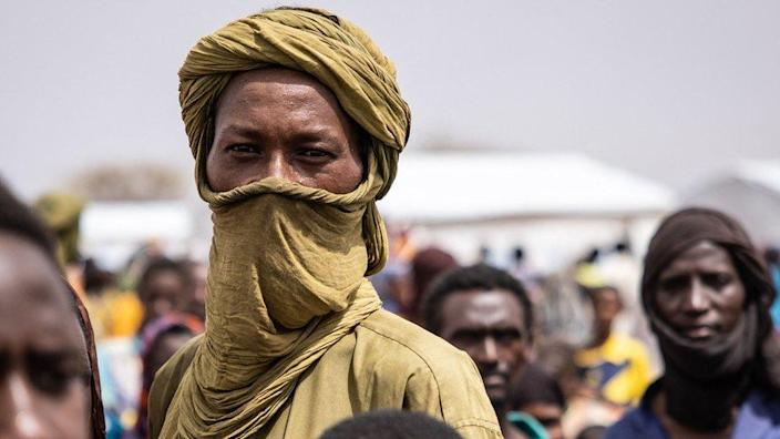 A refugee stands in Goudebou camp in northern Burkina Faso - Sunday 20 June 2021