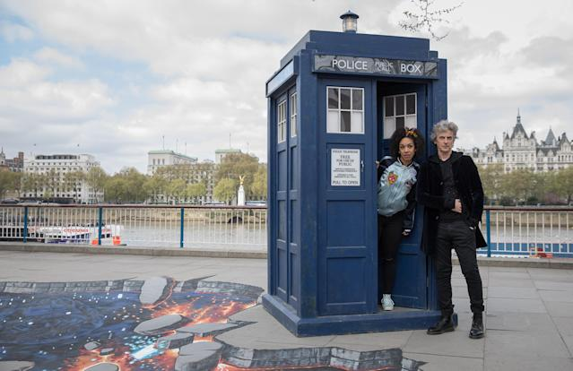 Peter Capaldi and her 'Doctor Who' co-star Peter Capaldi in 2017. (Getty Images)