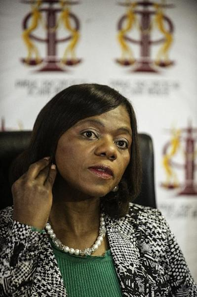 South African Public Protector Thuli Mandosela gives a press briefing at the Public Protector's office on August 28, 2014 in Pretoria (AFP Photo/Gianluigi Guerica)