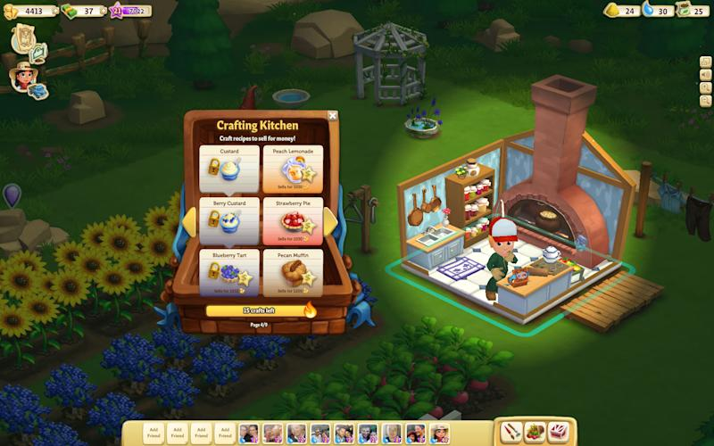 "This undated image provided by Zynga shows a screenshot of Farmville 2, announced on Wednesday, Sept. 5, 2012. Not Long ago, online games company Zynga looked on pace to unseat much bigger, well-established rivals as it rode the popularity of ""FarmVille,"" the clicking game of virtual cows and real money. But the iPad came along, and more people bought smartphones. People weren't playing Zynga's games on Facebook and computers as much as they used to. (AP Photo/Zynga)"