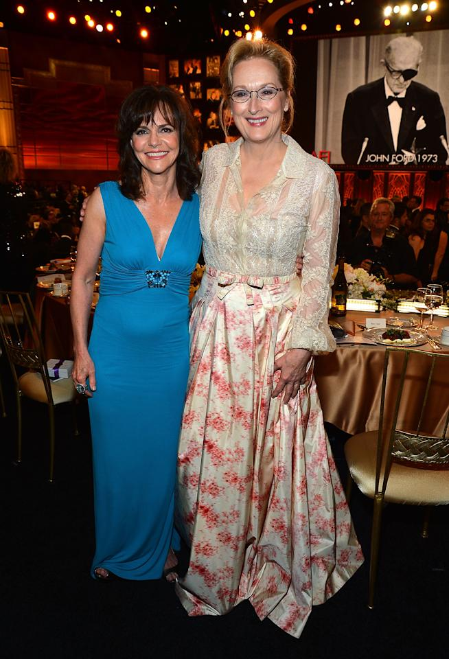 CULVER CITY, CA - JUNE 07:  Actors Sally Field and Merryl Streep attend the 40th AFI Life Achievement Award honoring Shirley MacLaine held at Sony Pictures Studios on June 7, 2012 in Culver City, California. The AFI Life Achievement Award tribute to Shirley MacLaine will premiere on TV Land on Saturday, June 24 at 9PM ET/PST.  (Photo by Frazer Harrison/Getty Images for AFI)