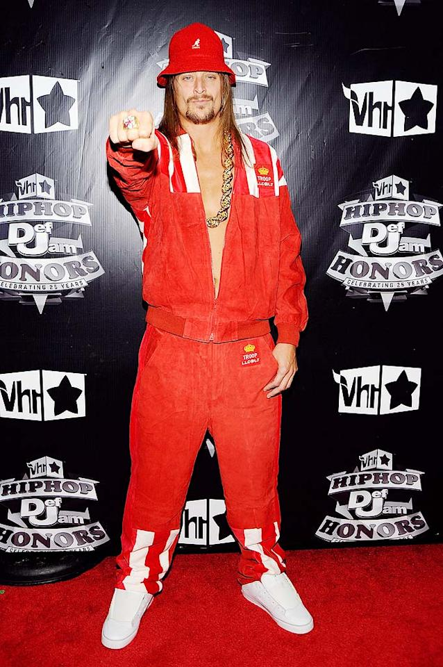 "Although his career has gone country lately, Kid Rock was on hand in his freshest '80s street gear. Larry Busacca/<a href=""http://www.gettyimages.com/"" target=""new"">GettyImages.com</a> - September 23, 2009"