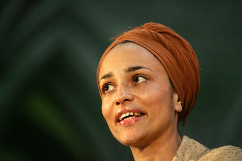 FILE - In this Tuesday, June 6, 2006 file photo British author Zadie Smith speaks after winning the Orange Prize for Fiction for her third novel 'On Beauty' at an award ceremony at the Royal Court of Justice in London. The lineup of 20 writers under 40 announced Monday April 15, 2013 included newcomer Taiye Selasi and established best-seller Zadie Smith who have been named to Granta magazine's list of best young British novelists _ a once-a-decade roster with a reputation for predicting literary stars. (AP Photo/Sang Tan, File)