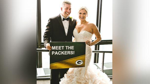 PHOTO: Green Bay super fan, Ryan Holtan-Murphy, marries woman with the last name of Packer in elaborate Packers-themed wedding. (Courtesy JPP Studios)