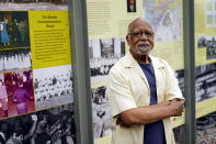 """Marvin Anderson poses for a photo Thursday, May 20, 2021, in St. Paul, Minn. He saw George Floyd's tragic death a year ago as an opportunity to repair the """"mildew and rotting timber"""" of America's foundation, but now questions whether Minnesota — despite its progressive reputation — will be able to lead the way. (AP Photo/Jim Mone)"""