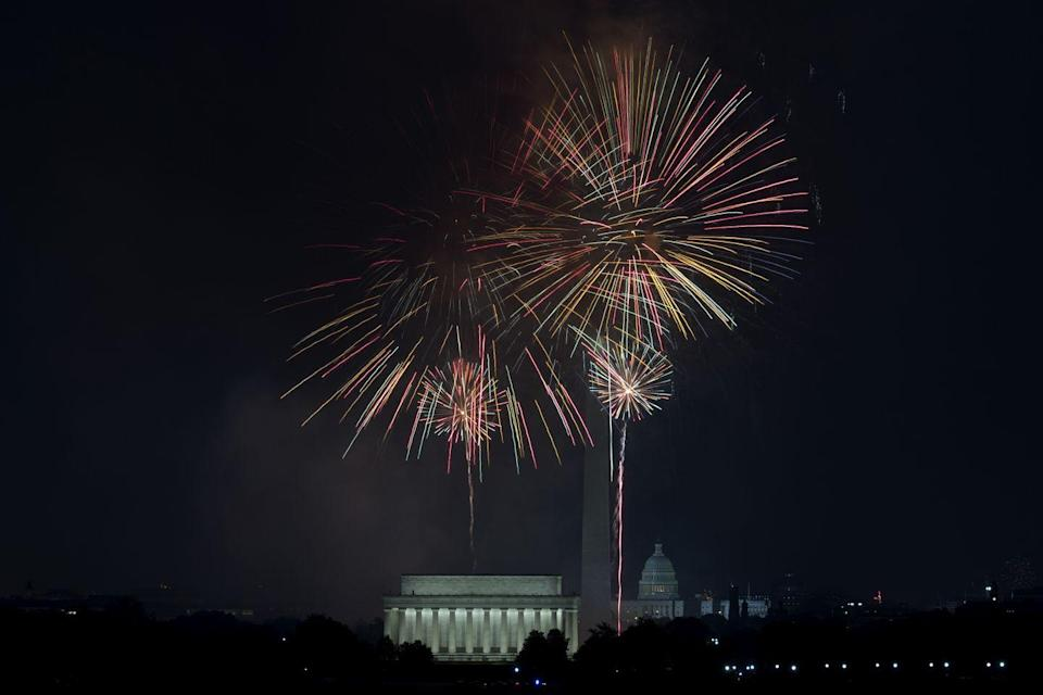 """<p><strong>Washington, D.C.</strong></p><p>Celebrate the 4th Of July with the annual fireworks display over the <a href=""""https://washington.org/visit-dc/top-spots-catch-fireworks-washington-dc"""" rel=""""nofollow noopener"""" target=""""_blank"""" data-ylk=""""slk:National Mall"""" class=""""link rapid-noclick-resp"""">National Mall</a> in Washington, DC. Watch the display and enjoy the Independence Day festivities.</p>"""