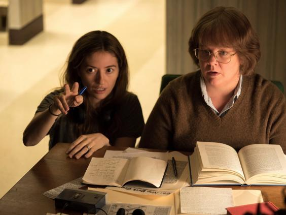 Some film critics were outraged at the lack of recognition Heller got for her work on 'Can You Ever Forgive Me?' (AP)