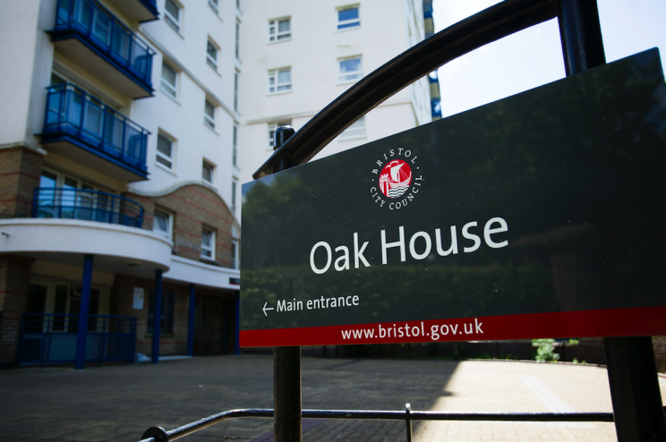 Operation: The toddler as rushed from Oak House flats to hospital (SWNS)