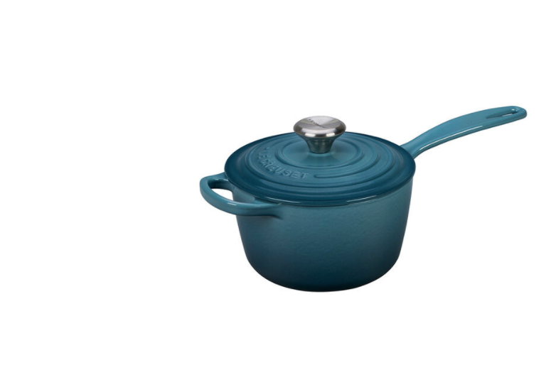 """<p><strong>Le Creuset </strong></p><p>lecreuset.com</p><p><a href=""""https://go.redirectingat.com?id=74968X1596630&url=https%3A%2F%2Fwww.lecreuset.com%2Fsignature-saucepan-factory-to-table-sale%2FLS2518-FTT.html&sref=https%3A%2F%2Fwww.cosmopolitan.com%2Ffood-cocktails%2Fg36067224%2Fle-creuset-factory-to-table-sale%2F"""" rel=""""nofollow noopener"""" target=""""_blank"""" data-ylk=""""slk:Shop Now"""" class=""""link rapid-noclick-resp"""">Shop Now</a></p><p><strong><del>$195</del> $117 (40% off)</strong></p><p>Whether you're making bolognese from scratch or reheating soup, you're bound to get a lot of mileage out of this saucepan.</p>"""