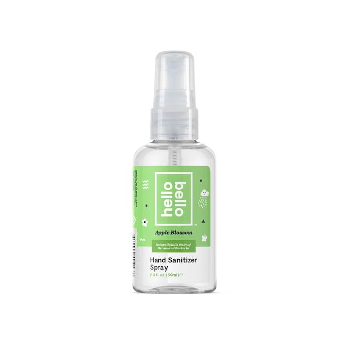 """<h3>Hello Bello Hand Sanitizer<br></h3> <br>Also ready to toss in your gym bag or purse: this Hello Bello bottle, which has avocado, cucumber and calendula extract to keep your hands soft while you sanitize. <br><br><strong>Hello Bello</strong> Hello Bello Hand Sanitizer Spray, $, available at <a href=""""https://www.walmart.com/ip/Hello-Bello-Hb-Hand-Sanitizer-2oz/154684036"""" rel=""""nofollow noopener"""" target=""""_blank"""" data-ylk=""""slk:Walmart"""" class=""""link rapid-noclick-resp"""">Walmart</a><br>"""