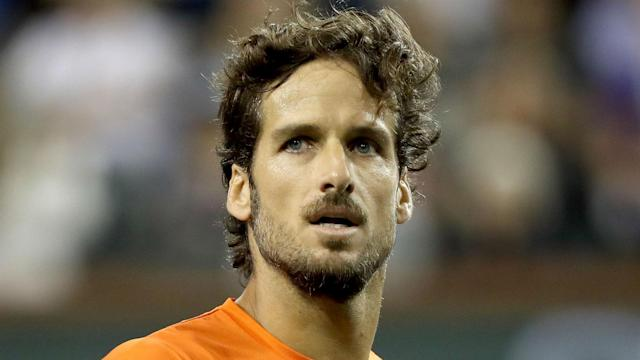 Feliciano Lopez beat Federico Delbonis in what is a record 66th major in a row for the Spaniard at Wimbledon.