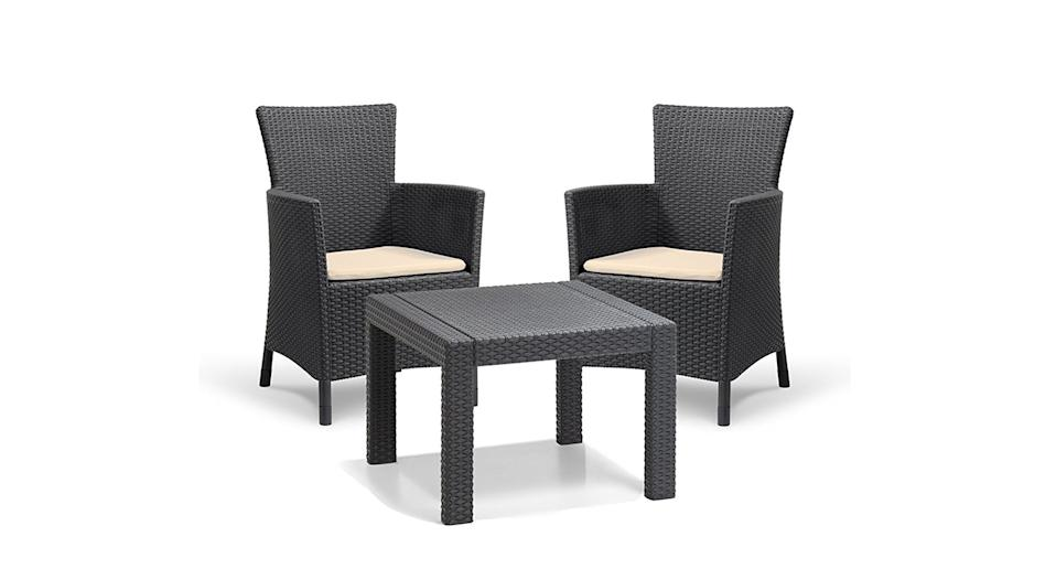 """<a href=""""https://www.amazon.co.uk/Keter-Allibert-Rosario-Outdoor-Furniture/dp/B00I2L4AIM?tag=yahooukedit-21"""" rel=""""nofollow noopener"""" target=""""_blank"""" data-ylk=""""slk:Buy now."""" class=""""link rapid-noclick-resp""""><strong>Buy now.</strong></a>"""