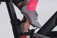 """<p><strong>No Bull</strong></p><p>nobullproject.com</p><p><strong>$179.00</strong></p><p><a href=""""https://www.nobullproject.com/products/concrete-cycling-shoe-womens?variant=32373887205450"""" rel=""""nofollow noopener"""" target=""""_blank"""" data-ylk=""""slk:Shop Now"""" class=""""link rapid-noclick-resp"""">Shop Now</a></p><p>The brand known for their CrossFit apparel has brought the same innovation and style to their new line for cyclists. <strong>Our testers were among the first to try these shoes out and found them super breathable and airy as they have holes throughout the top portion of the shoe.</strong> You'll have to rock them with a pair of cute socks, but this pick is great for ventilation and has a very stiff foundation, which some riders may like a lot.</p><p><em>Compatible with three-bolt cleat system.</em></p>"""