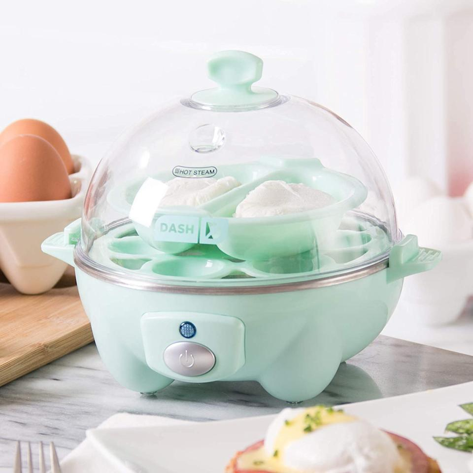 The Dash Rapid Egg Cooker prepares up to six eggs - and costs only $35.