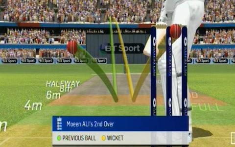 Moeen pitch map - Credit: BT Sports