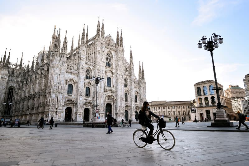 FILE PHOTO: Outbreak of the coronavirus disease (COVID-19) in Milan