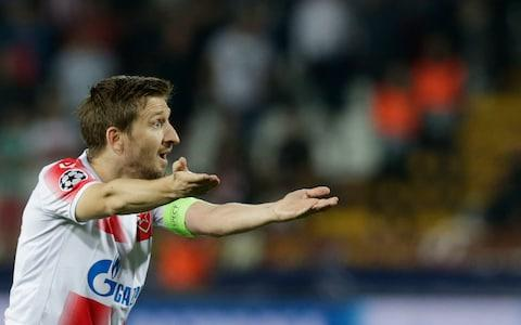 Marko Marin reacts during the UEFA Champions League group B soccer match between Red Star Belgrade and Olympiacos in Belgrade, Serbia, 01 October 2019 - Credit: REX