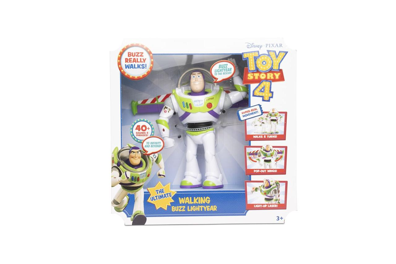 """<p>Perfect for the release of Toy Story 4 this summer. </p><p><a class=""""body-btn-link"""" href=""""https://www.amazon.co.uk/Disney-GDB92-Walking-Lightyear-Multicolour/dp/B07GLKJDNL?tag=hearstuk-yahoo-21&ascsubtag=%5Bartid%7C2060.g.27783271%5Bsrc%7Cyahoo-uk"""" target=""""_blank"""">BUY NOW VIA AMAZON</a></p><p>• Also available to buy at <a href=""""https://www.very.co.uk/toy-story-the-ultimate-walking-buzz-lightyear/1600330937.prd"""" target=""""_blank""""><strong>Very</strong></a>, <strong><a href=""""https://direct.asda.com/george/toys-character/dolls-playsets/disney-pixar-toy-story-ultimate-walking-buzz-lightyear/050617214,default,pd.html"""" target=""""_blank"""">Asda George</a> </strong>and <strong><a href=""""https://www.argos.co.uk/product/8835624"""" target=""""_blank"""">Argos</a><br></strong></p><p>We earn a commission for products purchased through some links in this article.</p>"""