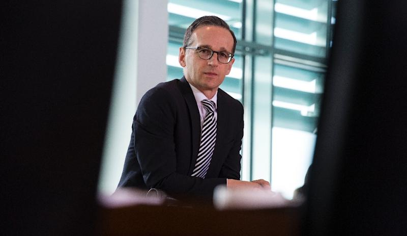 German Justice Minister Heiko Maas arrives for a cabinet meeting at the Chancellery in Berlin, on June 17, 2015