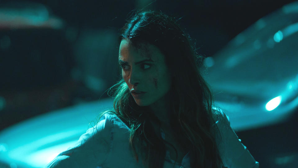 Jordana Brewster as Kathy in 'Random Acts of Violence'. (Credit: Shudder)