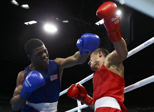 Gary Russell appeared to thoroughly outbox Uzbekistan's Fazliddin Gaibnazarov. (Reuters)