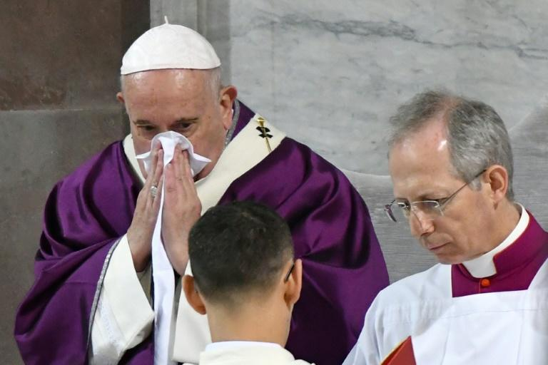 Pope Francis caught a cold but reportedly tested negative for the coronavirus
