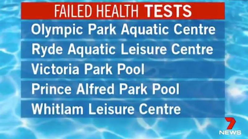 The five pools which have been impacted. Source: 7 News