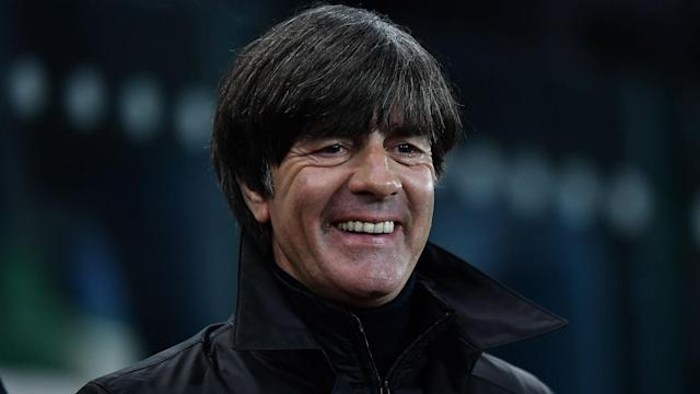 Germany have won all nine of their qualifying games in Group C after dominating proceedings at Windsor Park, much to Joachim Low's delight.