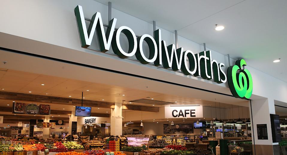 A Woolworths store is pictured. The new Disney Ooshies range will launch on Wednesday across Australia except for Victoria.