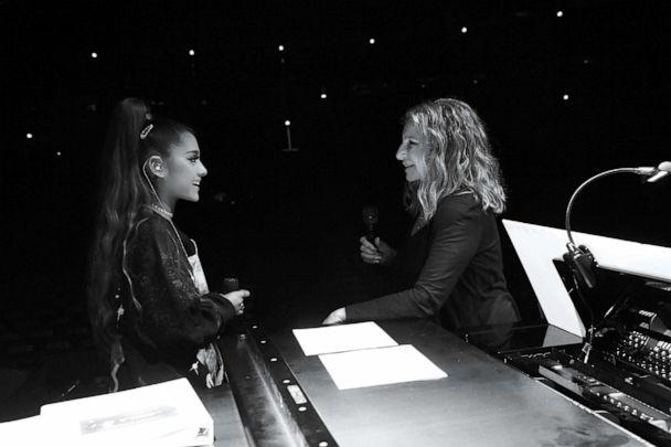 PHOTO: Ariana Grande and Barbra Streisand rehearse before Barbra's performance at United Center on August 06, 2019, in Chicago. (Kevin Mazur/Getty Images for BSB)