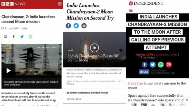 Chandrayaan 2 was launched by Isro on Monday afternoon in a major achievement for India's space programme. Here's how the foreign media covered the event.