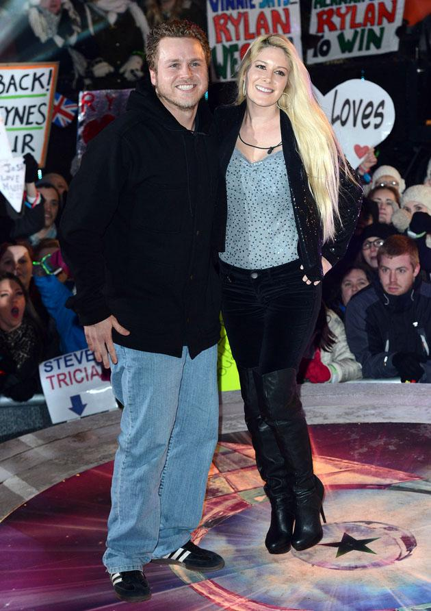 Celebrities in thigh high boots: Celebrity Big Brother star Heidi Montag wore these over-the-knee boots for the final of the show. Copyright [Rex]