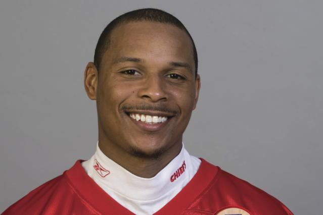 FILE - This 2010 photo shows Rich Gunnell after he signed with the Kansas City Chiefs NFL football team. Gunnell, who became wide receivers coach at his Alma Mater Boston College, was named the school's interim football coach after head coach Steve Addazio was fired on Sunday, Dec. 1, 2019.(AP Photo, File)