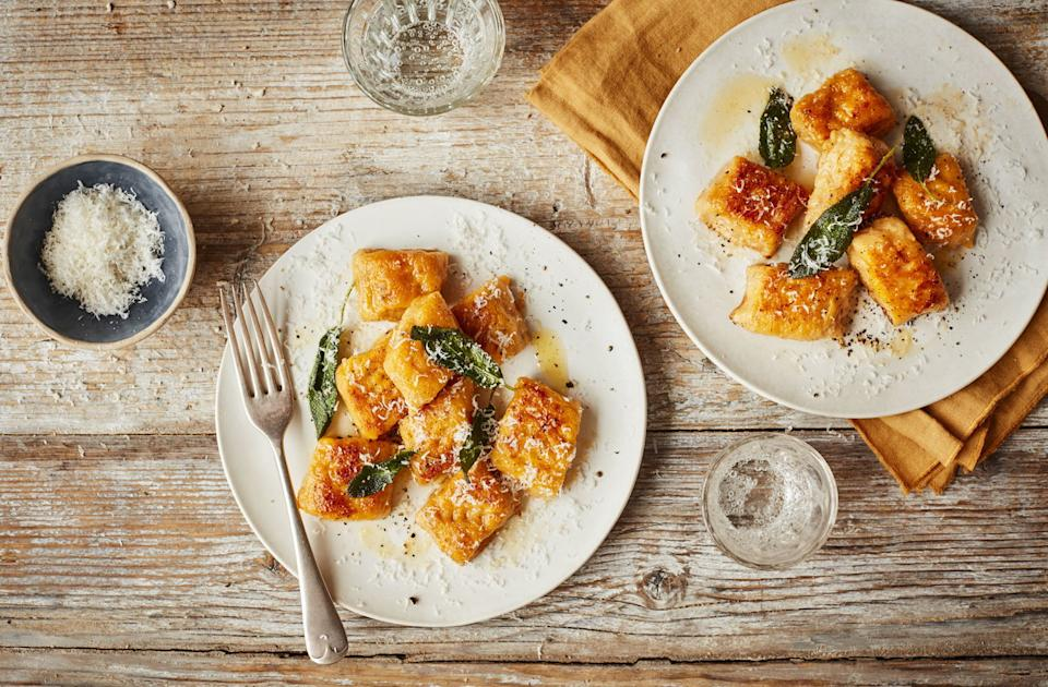 There are hundreds of pumpkin recipes available, this pumpkin gnocchi being our favourite. [Photo: Tesco]