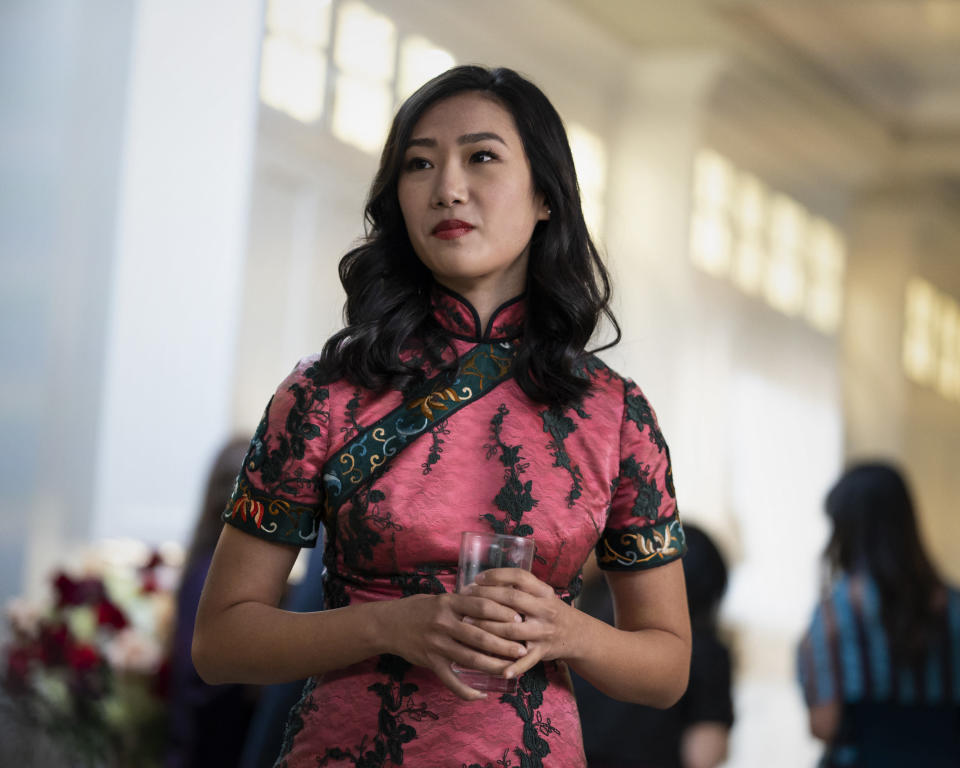 """This image released by The CW shows Olivia Liang as Nicky Shen in a scene from """"Kung Fu,"""" premiering on April 7. (Kailey Schwerman/The CW via AP)"""