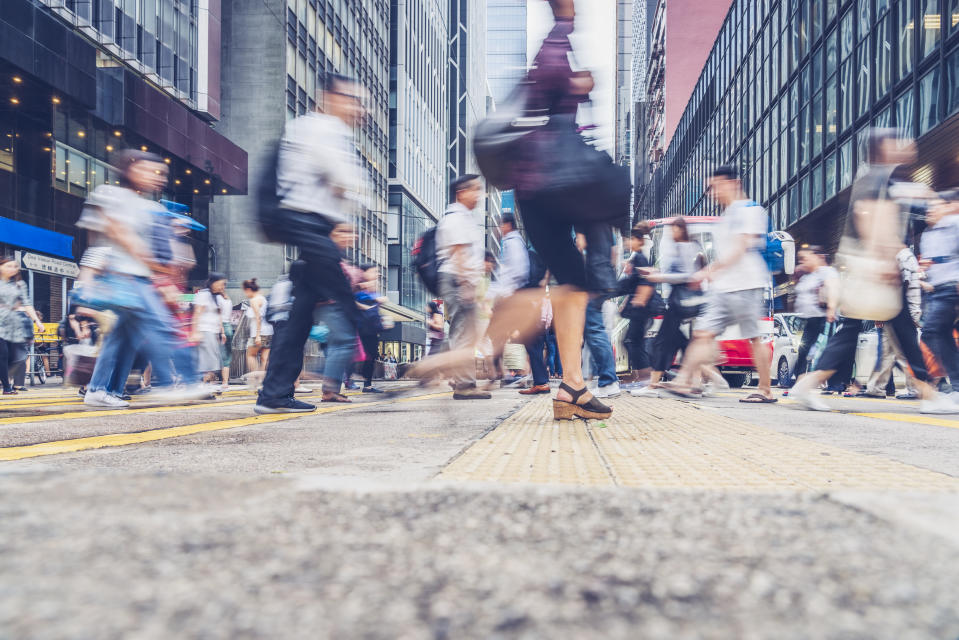 A brisk walk is a great way to prepare for work. Image: Getty Images